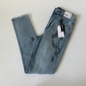NWT Express Super High Rise Ankle Legging Jeans